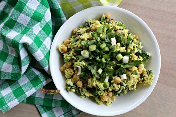 Honey Mustard Broccoli Bowl @vegetarianmamma.com 5