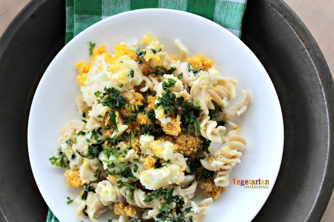 Lemon Cauliflower Pasta @vegetarianmamma.com #cauliflower #glutenfree