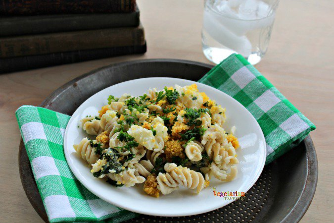 Lemon Cauliflower Pasta @vegetarianmamma.com