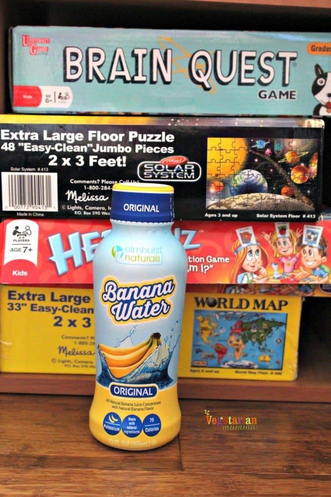 banana water @vegetarianmamma.com #gamenight