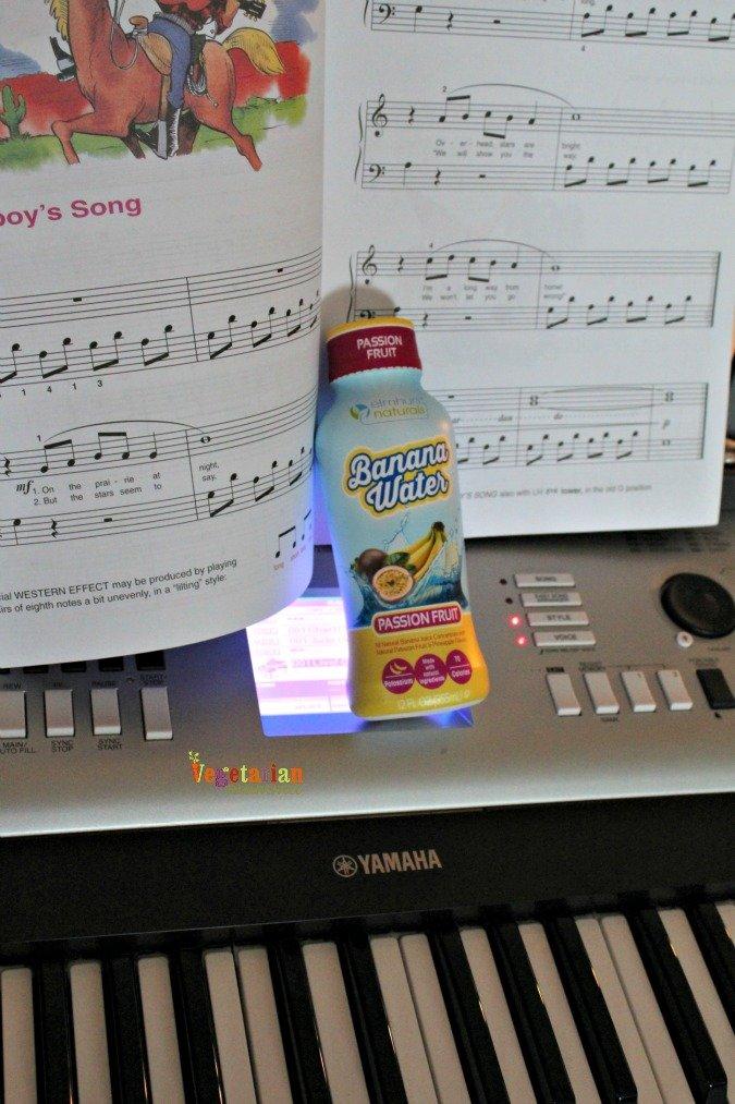 banana water @vegetarianmamma.com #pianopractice