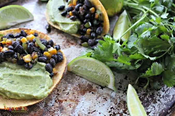 Black Bean and Guacamole Tacos @vegetarianmamma.com gluten free dairy free