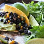Black Bean Tacos with guacamole