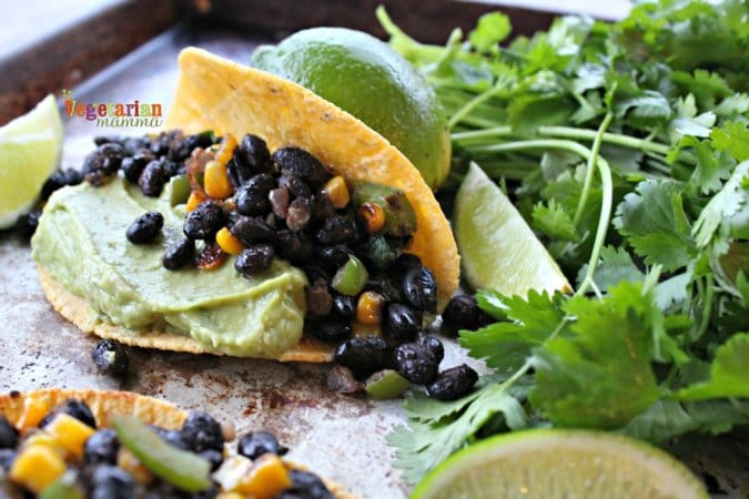 Does your family love taco night? Black Bean and Guacamole Tacos are ...