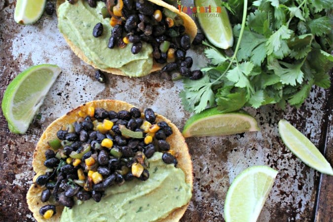 Black Bean and Guacamole Tacos @vegetarianmamma.com Gluten-Free
