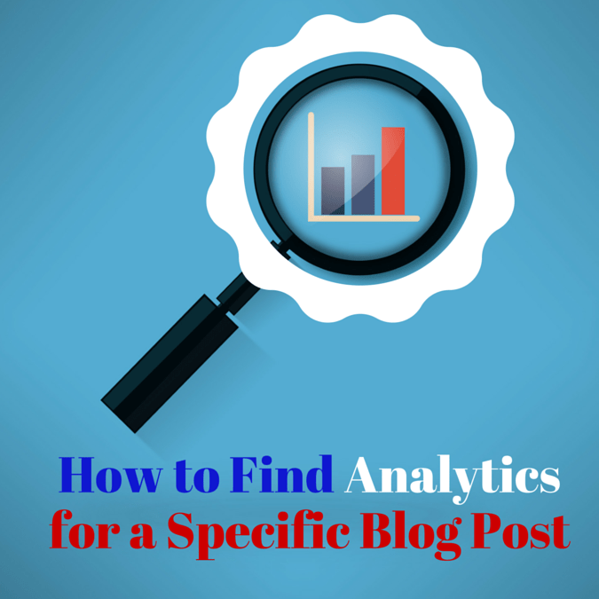 How to Find Analytics For a Specific Blog Post @vegetarianmamma.com #blogger #blogging #Blogging101