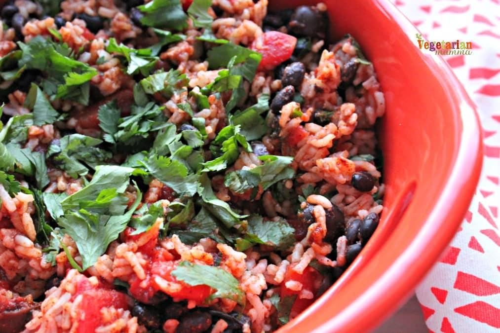 Mexican Rice Casserole @vegetarianmamma.com GlutenFree