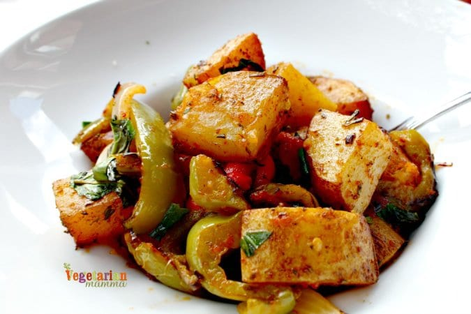 Mia Bella Restaurant Review @vegetarianmamma.com Potatoes