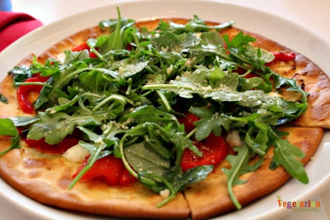Mia Bella Restaurant Review @vegetarianmamma.com Arugula Pizza