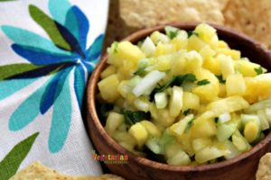 Pineapple Salsa @vegetarianmamma.com - Salsa Snacking!