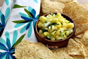 Pineapple Salsa @vegetarianmamma.com - Delicious Snack