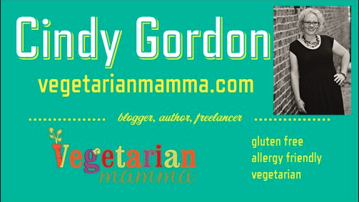 Food Blogger and Expos @vegetarianmamma.com Business Card