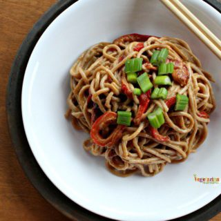 SunButter Spaghetti with Red Peppers