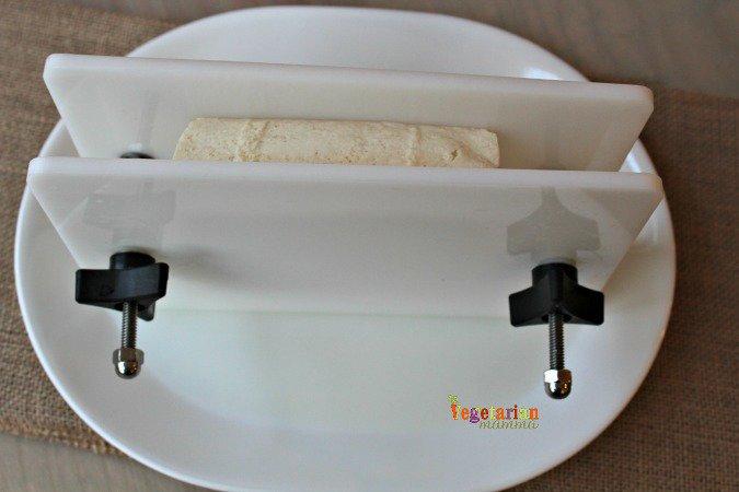 Pressing extra firm tofu