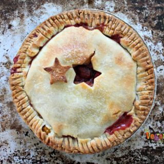 5 Ways to a Gluten-Free Mothers Day @Vegetarianmamma.com - Peach Raspberry Pie