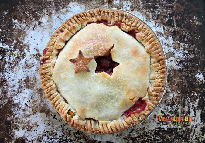 5 Ways to a Gluten-Free Mothers Day @Vegetarianmamma.com - Peach Raspberry Pie