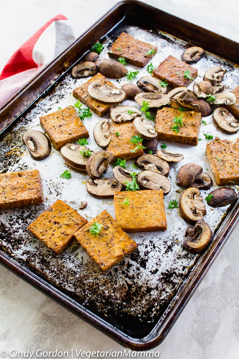 Balsamic Tofu and Mushrooms