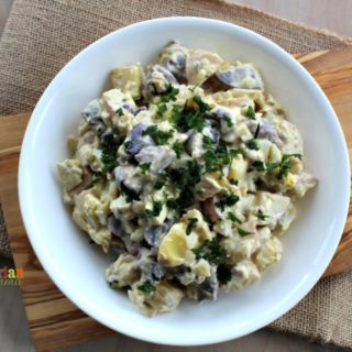 Deli Style Potato Salad @vegetarianmamma.com - Picnic Time!