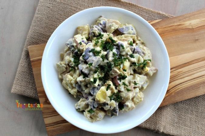 Deli Style Potato Salad @vegetarianmamma.com - Picnic Time!