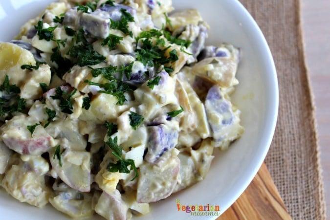 Deli Style Potato Salad @vegetarianmamma.com - Upgrade your picnic