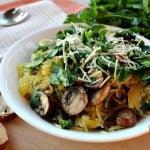 Mushroom Spaghetti Squash is easy to make!
