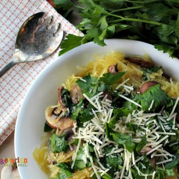 Mushroom Spaghetti Squash - the mushrooms bring a delicious earthy undertone.