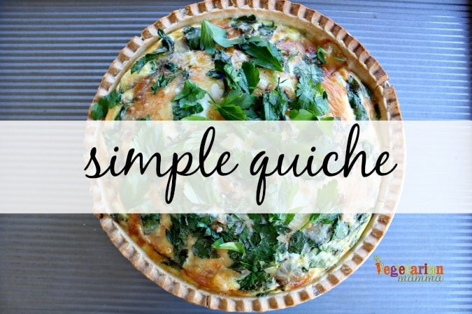 "quiche with words ""simple quiche"" written over it"