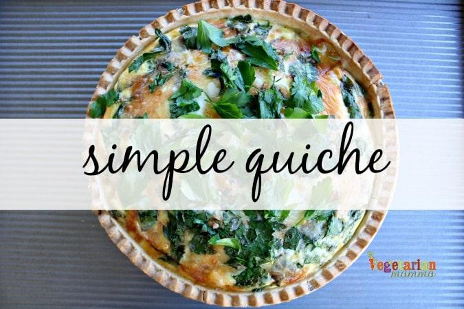 Simple Quiche - @vegetarianmamma.com - Delicious and simple!