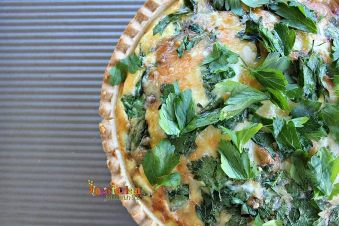 Simple Quiche - @vegetarianmamma.com - Gluten Free Quiche