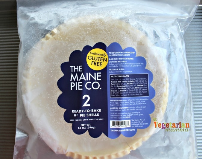 Simple Quiche - @vegetarianmamma.com - The Maine Pie Company Pie Crust - glutenfree