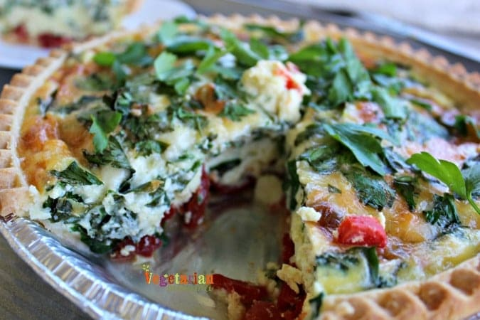 Simple Quiche - @vegetarianmamma.com - Who is hungry