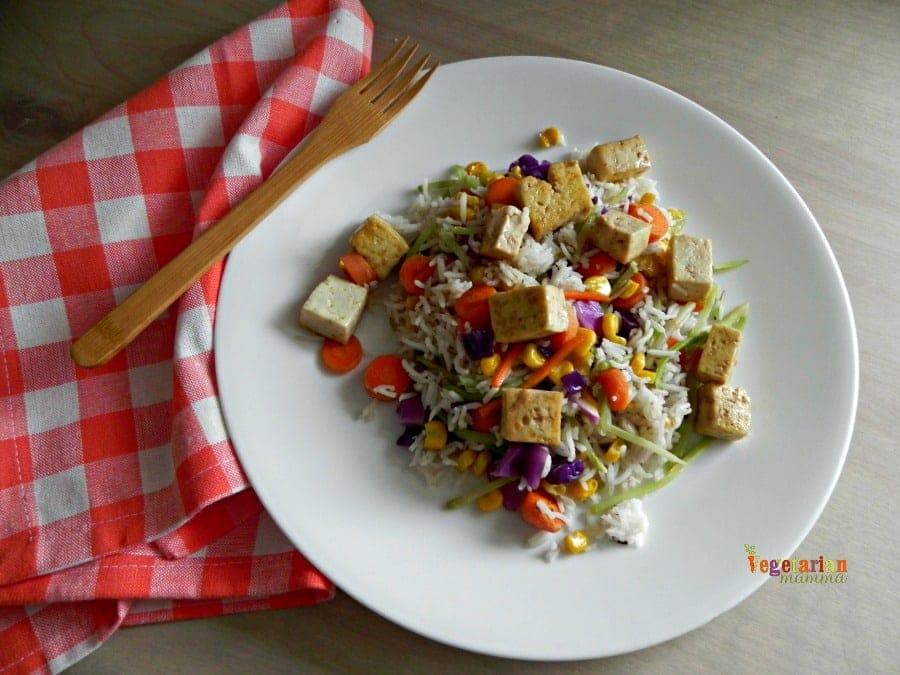 Vegan Tofu Fried Rice @Vegetarianmamma.com #vegan