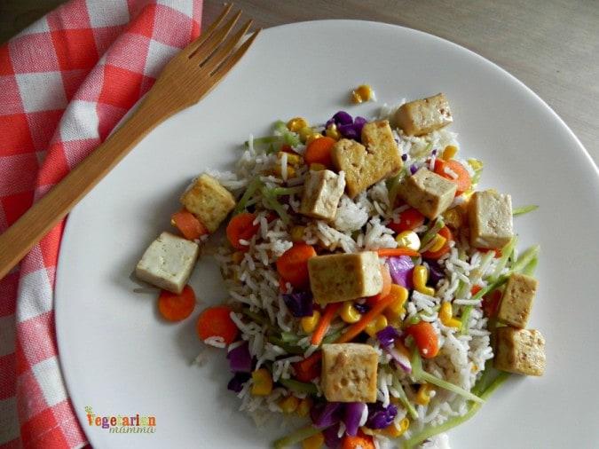 Vegan Fried Rice @vegetarianmamma.com #vegan #friedrice