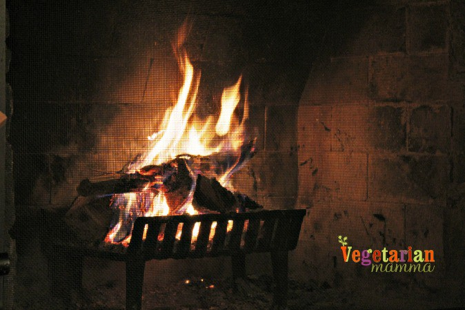 Cabin Fever - Cave Hill Cabins Visit @vegetarianmamma.com - Relaxing Fire