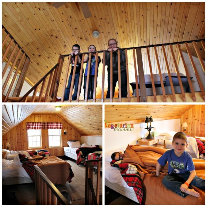 Cabin Fever - Cave Hill Cabins Visit @vegetarianmamma.com - Sleeping Loft