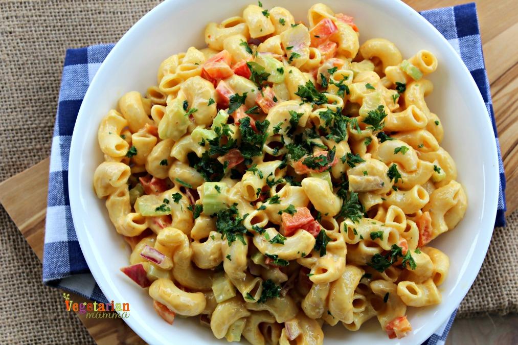 Chipotle Macaroni Salad - Gluten Free and Vegan