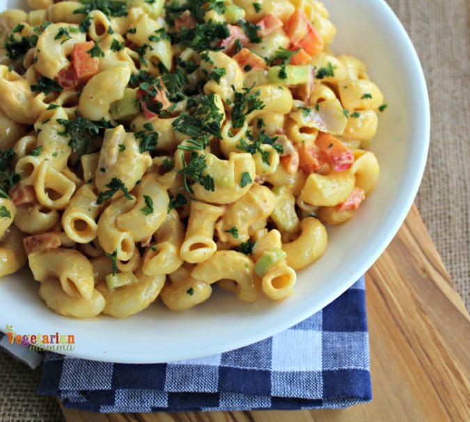 Chipotle Macaroni Salad @ vegetarianmamma.com 7