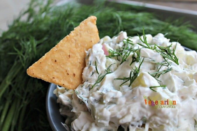 Dill Pickle Dip - Gluten-free and Vegan