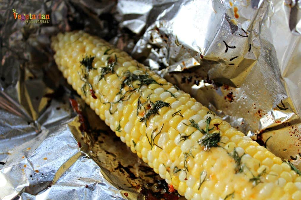 Grilled Herb Corn