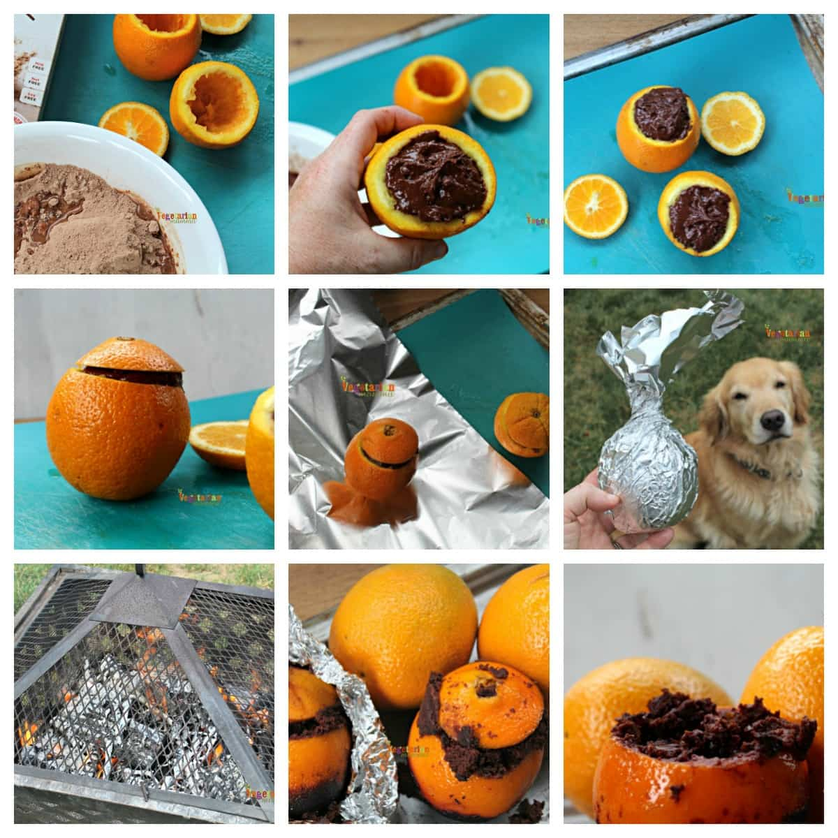 Campfire Brownies Collage @Vegetarianmamma.com