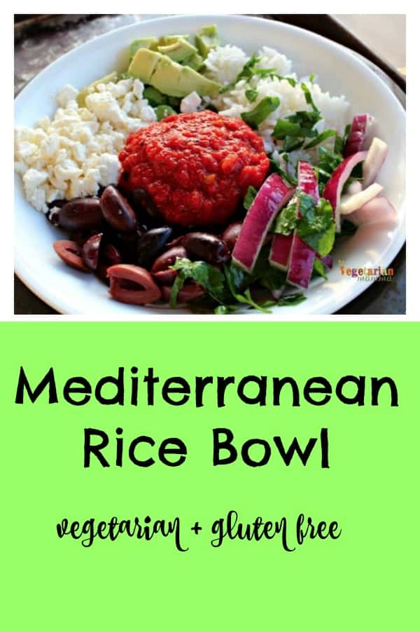 Mediterranean Rice Bowl pin
