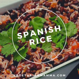Spanish Rice Pin with text overlay