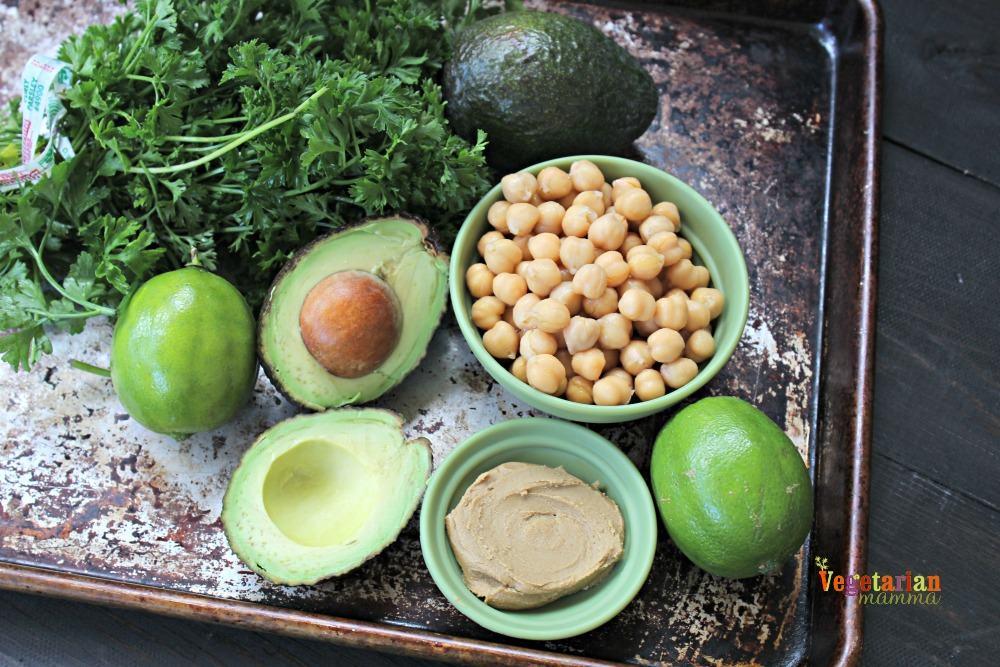 Avocado Hummus @Vegetarianmamma.com