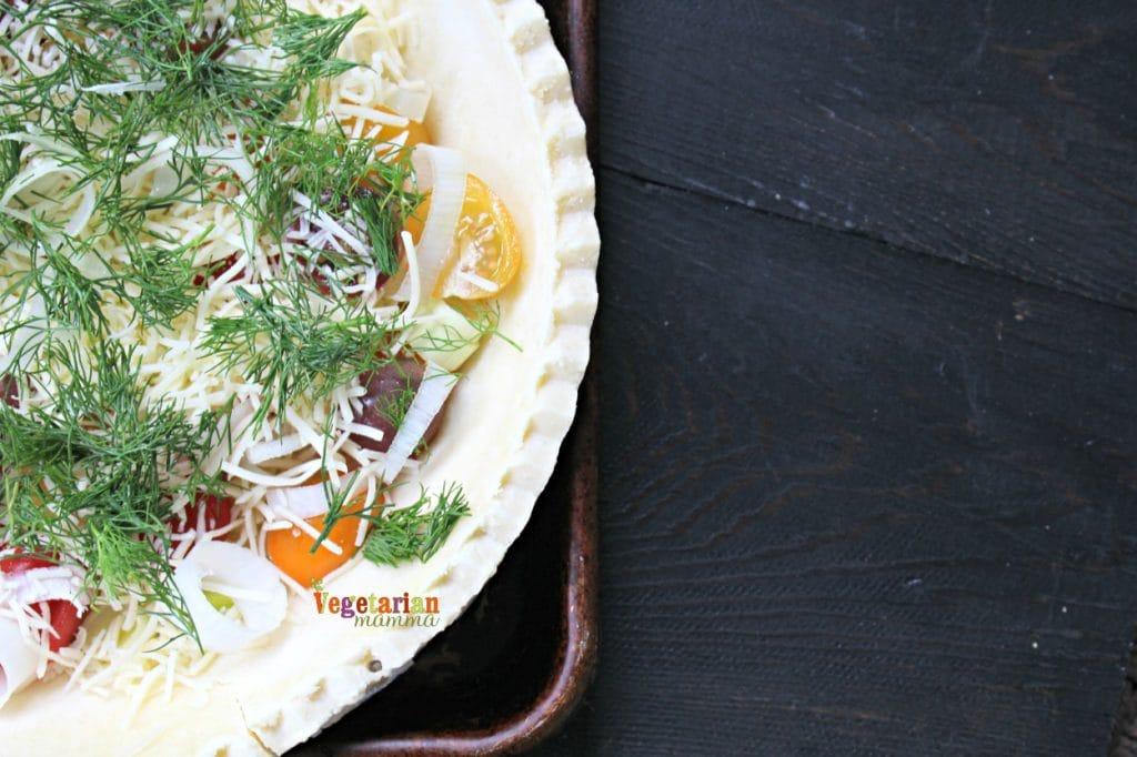 Gluten Free Vegetarian Farmers Market Quiche