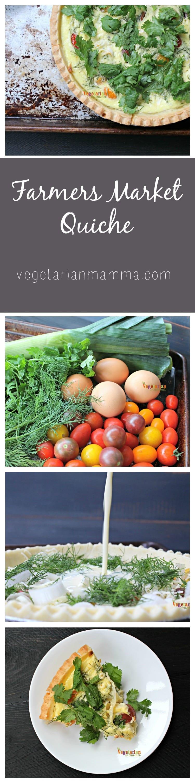 Farmers Market Quiche @VegetarianMamma.com #MainePieCo - Gluten Free + Vegetarian