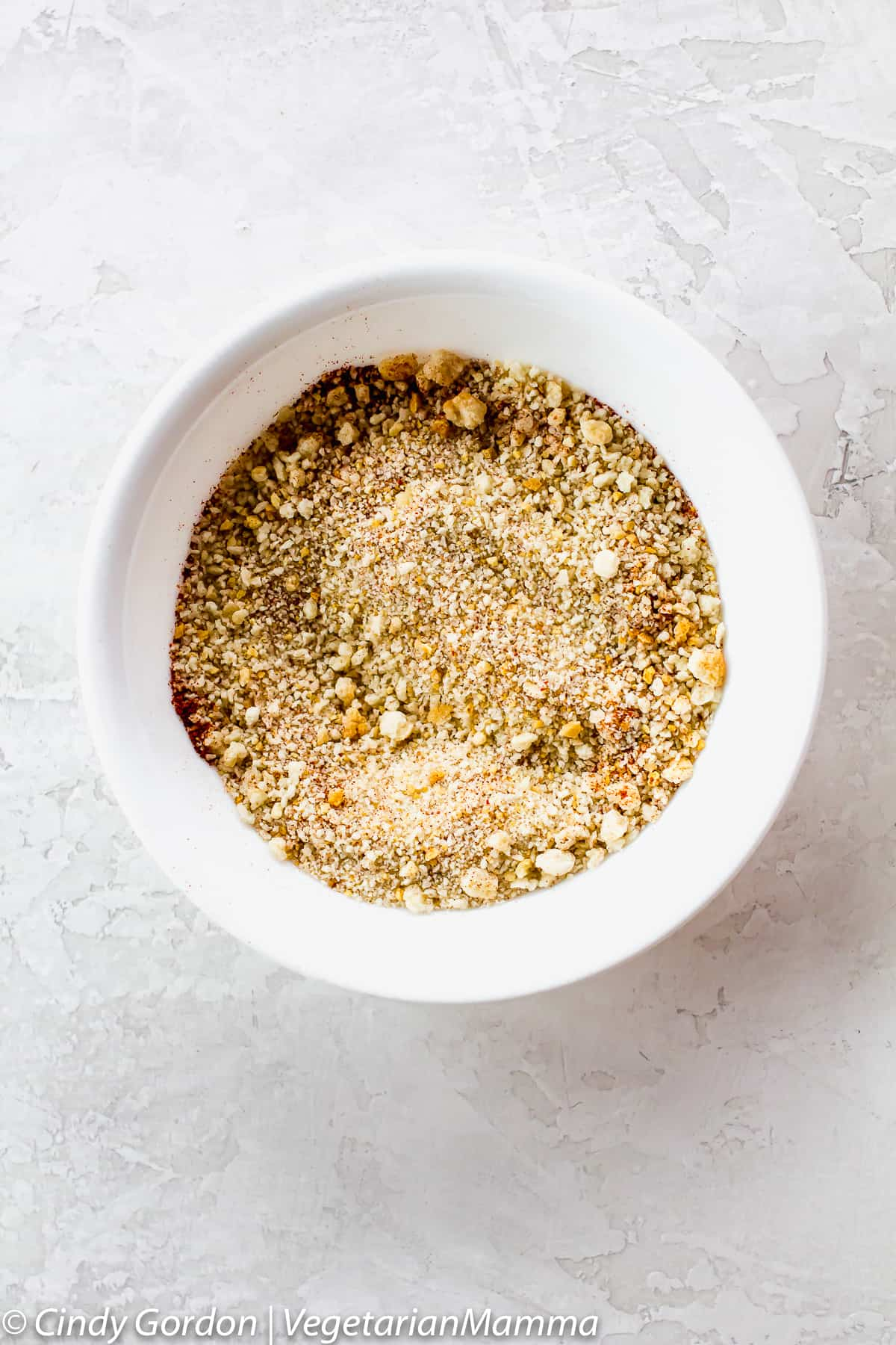 A bowl of gluten-free crumbs