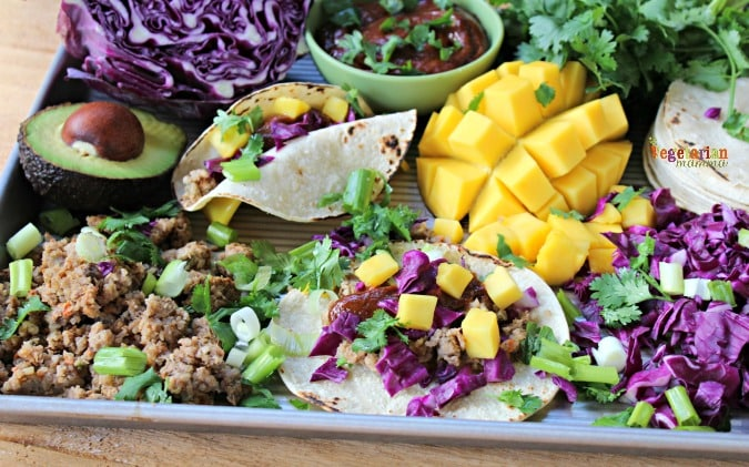 Veggie Burger Tacos @Vegetarianmamma.com - Taco Night