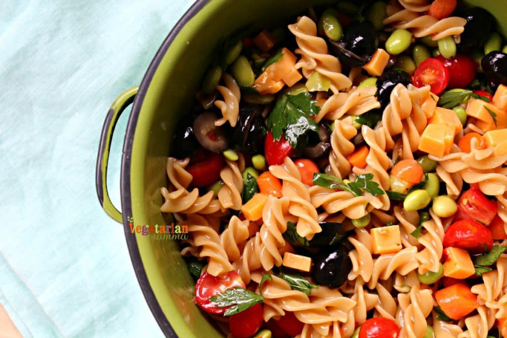 Gluten Free Kid Friendly Pasta Salad- a cold pasta salad that kids will eat