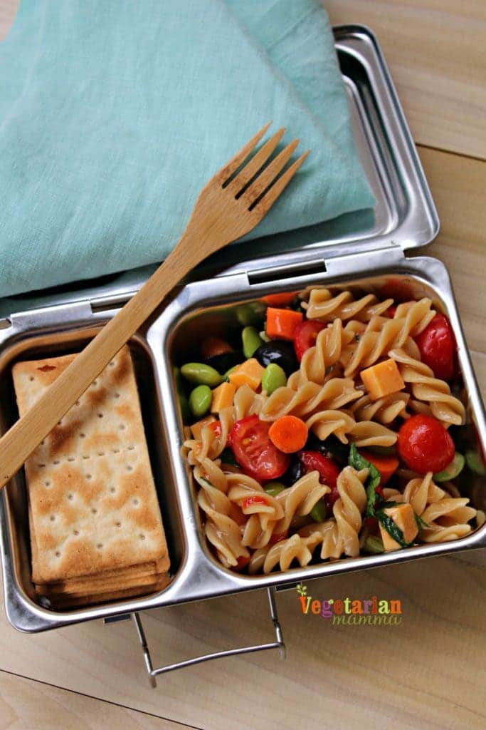 Cold Pasta Salad for School Lunch