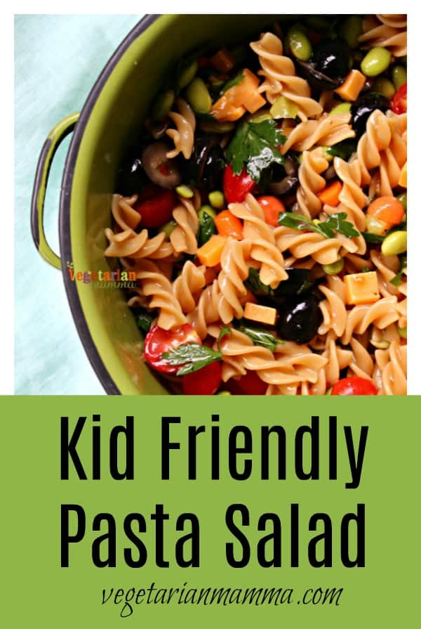 This easy pasta salad is not only delicious, but it's also gluten-free as well. You'll love this vegetarian pasta salad!